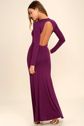 Up and Coming Navy Blue Backless Maxi Dress at Lulus.com!