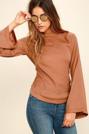 Simplest Love Rust Orange Long Sleeve Top at Lulus.com!