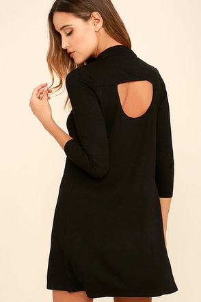 RVCA Lasso Black Dress at Lulus.com!