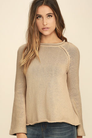 Think of You Grey Sweater at Lulus.com!