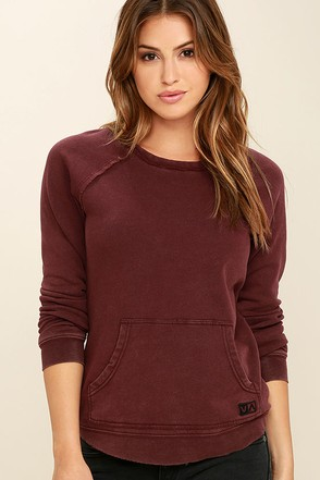 RVCA Rendered Plum Purple Sweater at Lulus.com!