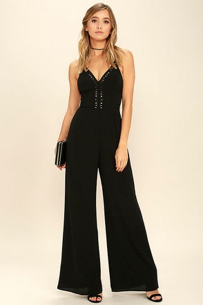 Nightingale Black Jumpsuit at Lulus.com!