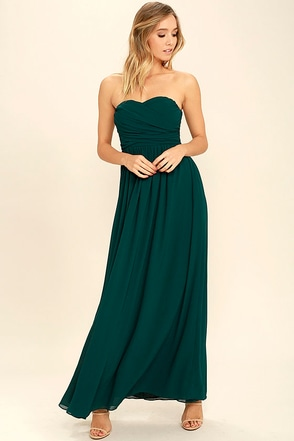 Love and Be Loved Burgundy Strapless Maxi Dress at Lulus.com!