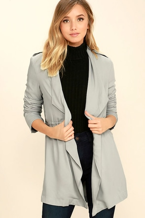 Moonlit Walk Light Grey Jacket at Lulus.com!