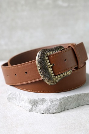Vaquero Gold and Tan Belt at Lulus.com!
