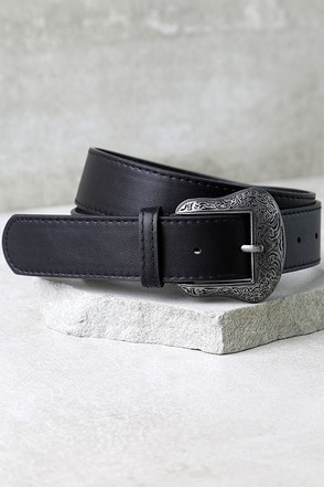 Vaquero Silver and Black Belt at Lulus.com!