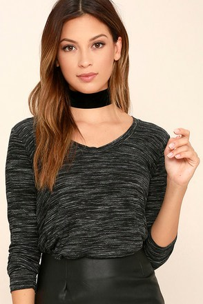 Classic Collection Black Print Long Sleeve Top at Lulus.com!