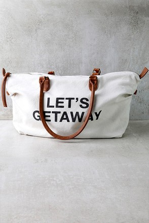Billabong Bali Bliss Cream Weekender Bag at Lulus.com!
