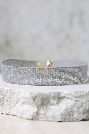 Cuddle Bug Grey Choker Necklace at Lulus.com!