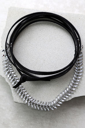 Sweet Situation Black and Silver Wrap Necklace at Lulus.com!