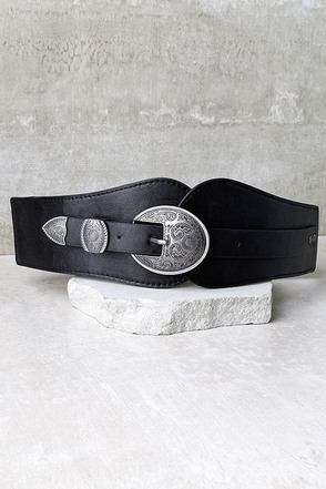 Hoot and Holler Black and Antiqued Gold Belt at Lulus.com!