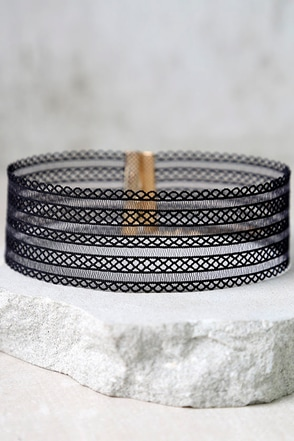 Ribbon Dancer Black Choker Necklace at Lulus.com!