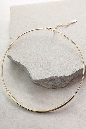 Elemental Spirit Gold Collar Necklace at Lulus.com!