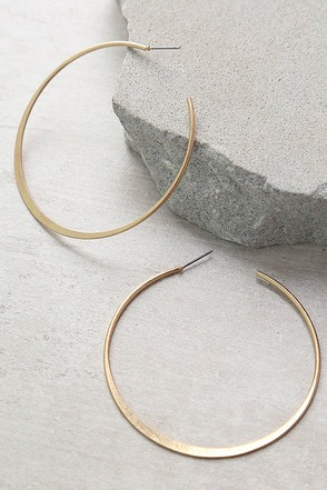 Alter Ego Gold Hoop Earrings at Lulus.com!