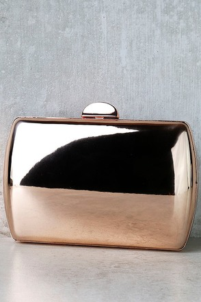 Reflected Image Rose Gold Mirrored Clutch at Lulus.com!