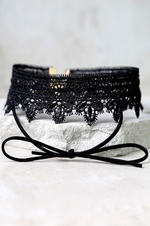 Make it Better Black Lace Choker Necklace at Lulus.com!