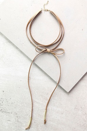 Alchemy Gold and Taupe Layered Choker Necklace at Lulus.com!