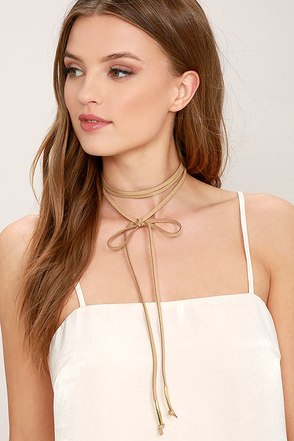 Alchemy Gold and Taupe Layered Choker Necklace 1