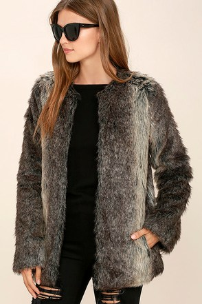 Jack by BB Dakota Caddy Brown Faux Fur Coat at Lulus.com!