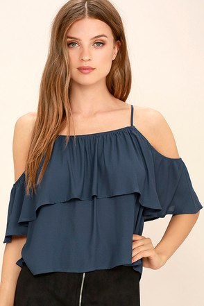 Exquisite Beauty Washed Blue Top at Lulus.com!
