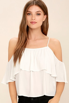 Exquisite Beauty White Top at Lulus.com!