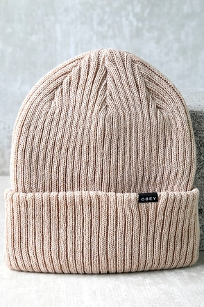Obey Linden Cream Beanie at Lulus.com!
