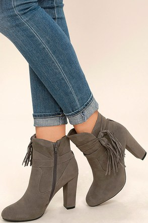 Effie Taupe Suede Ankle Booties at Lulus.com!
