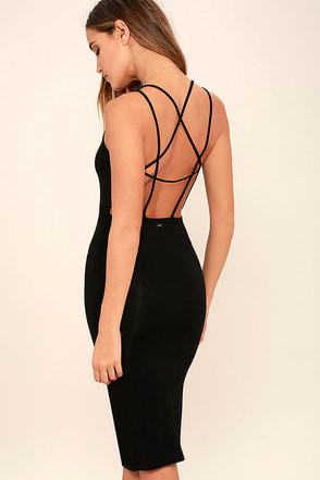 Obey Joan Black Bodycon Dress at Lulus.com!