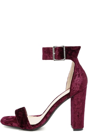 Akila Black Velvet Ankle Strap Heels at Lulus.com!