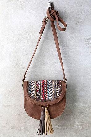 Hootenanny Brown Print Purse at Lulus.com!