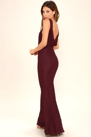 Magic in the Air Burgundy Lace Maxi Dress at Lulus.com!