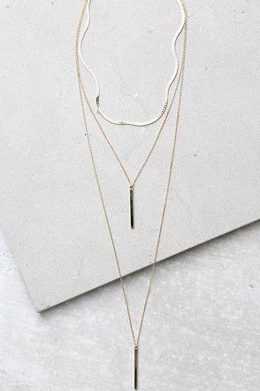 Sleek Peek Gold Layered Choker Necklace at Lulus.com!