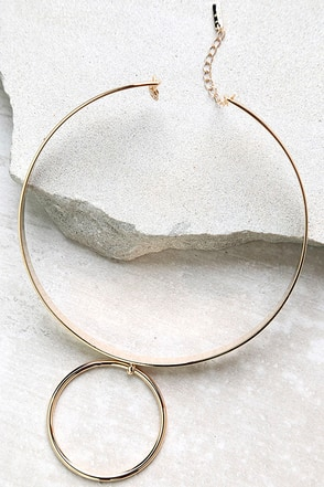 With This Ring Gold Choker Necklace at Lulus.com!
