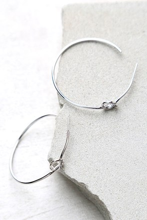 Knot on my Watch Silver Hoop Earrings at Lulus.com!
