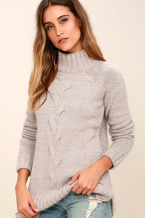 Mink Pink Now and Then Light Grey Sweater at Lulus.com!