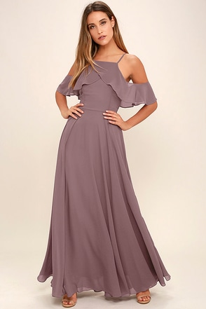 Chandelier Dusty Purple Maxi Dress at Lulus.com!
