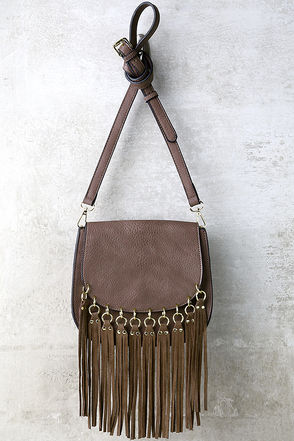 Got This Feeling Mauve Fringe Purse at Lulus.com!