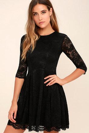 Love Letter Black Lace Dress at Lulus.com!