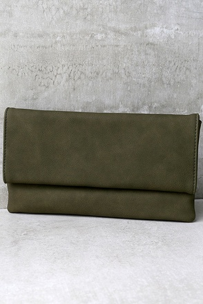 My Love is Your Love Olive Green Clutch at Lulus.com!