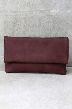 My Love is Your Love Burgundy Clutch at Lulus.com!