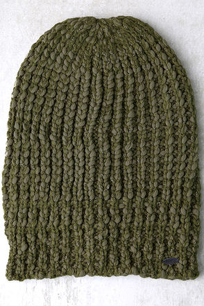 O'Neill Chill Army Green Knit Beanie at Lulus.com!