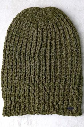 O'Neill Chill Army Green Knit Beanie 1