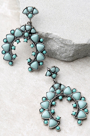 Energy Healer Turquoise Earrings at Lulus.com!