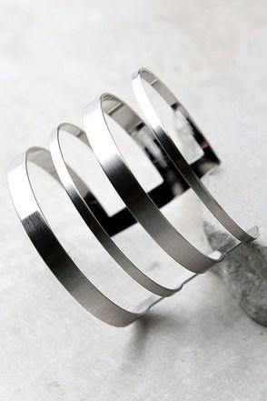 Architect Silver Cuff Bracelet at Lulus.com!