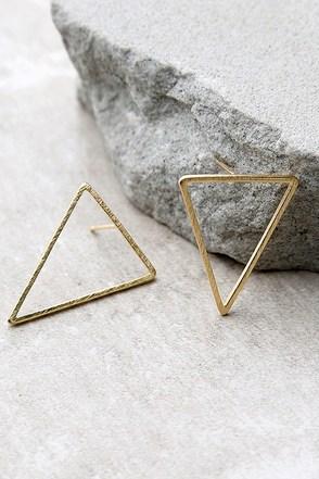 Tessellate Gold Earrings at Lulus.com!