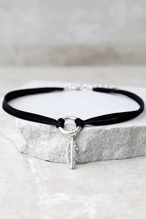 Found Treasures Black and Silver Choker Necklace at Lulus.com!