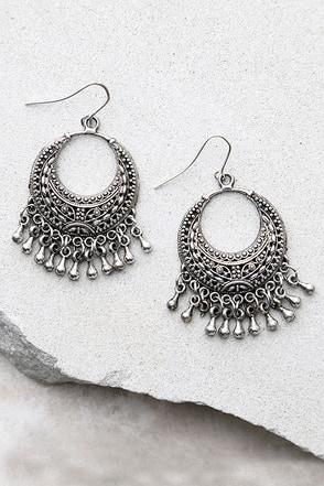 Nomadic Silver Earrings at Lulus.com!