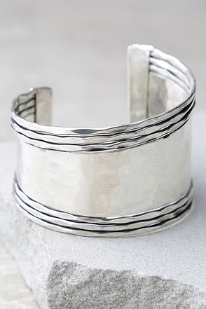 Get What You Give Silver Cuff Bracelet at Lulus.com!