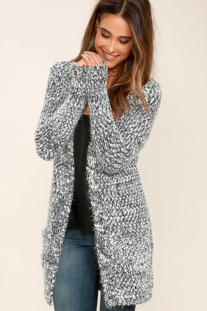 Black Swan Stana Black and White Cardigan Sweater at Lulus.com!