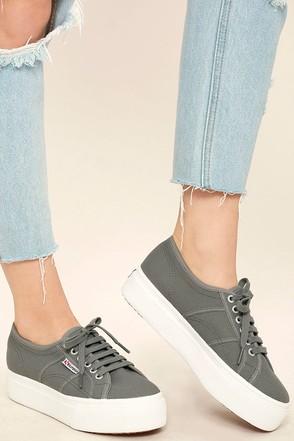 Superga 2790 ACOTW Grey Sage Platform Sneakers 1